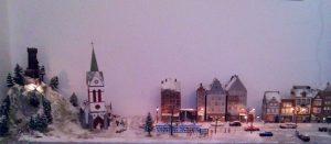 So sieht das Weihnachtsdorf komplett aus.