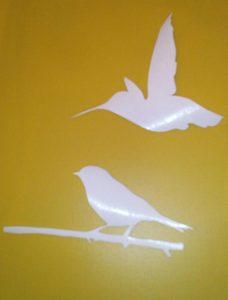 Und hier Vögel ausgeschnitten.