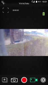 Ausblick durch die Cam vom Wohnwagen